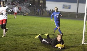 Matt Stenger makes a save for Lake Region