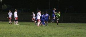 GK Michael Rust celebrates scoring a penalty kick