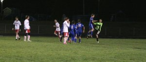 GK Michael Rust celebrates scoring a penalty kick