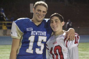 Julian Dunn and Zach Kaufman after the game