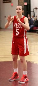 Meghan Collins had 18 points, 12 rebounds, 3 assists, and 2 steals for the Lady Chieftains