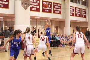Nicole Hogan makes one of nine Royals 3-pointers