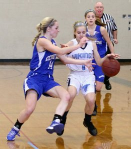 Mollie Swanton goes for a steal