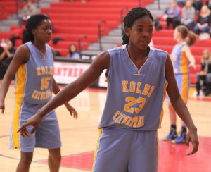 Freshman Trinity Bravo (14 points) was a key in the KC 2nd half rally