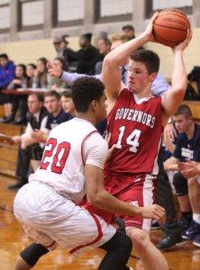 Freshman Shane Smith runs into some tight defense