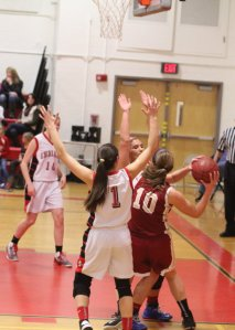 Tight defense by Amesbury