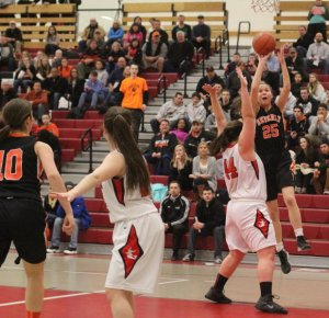Ashley Augulewicz (16 points) gets two