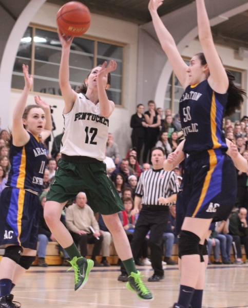 Kelsi McNamara (15 points) became the top all-time scorer at Pentucket