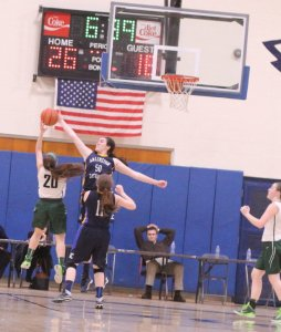 Demi Fogarty blocks Taylor Moore