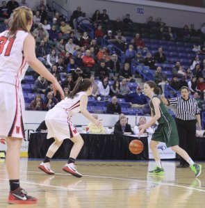 Kelsi McNamara was heavily defended on the perimeter
