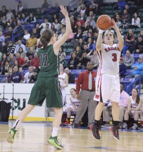 Michaela Antonellis (15 points) had a strong game for Watertown