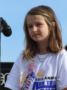 9-year-old dazzled with her rendition of the National Anthem