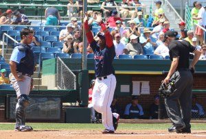 Aneury Tavarez had a solo home run