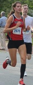 Deidre Martyn - first woman in the 5K