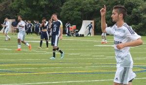 Jack Kingdon celebrates goal