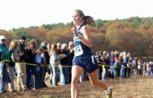 Maddie Quigley (Triton) finishes first