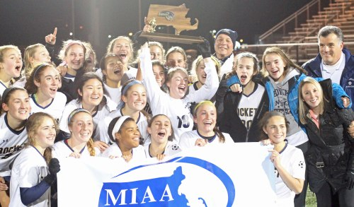 2015 Division 1 girls soccer state champs (Needham)
