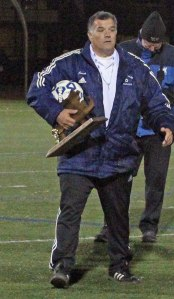 Needham coach Carl Tarabelli