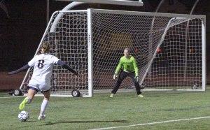 Crea Baker-Durante in on goal