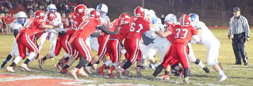 Action on the line of scrimmage