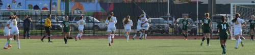 Bishop Fenwick mobs Colleen Corcoran after her game-tying goal