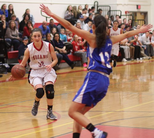 Abbie Sartori (16 points) had a big night on offense and defense for Amesbury