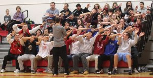 Amesbury student section in synch