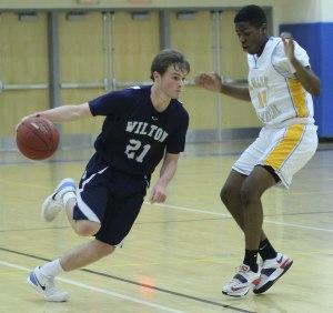 Jack Williams tries to get past Anthony Senior