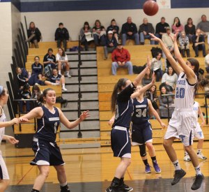 Tessa Lafrance shoots in the lane