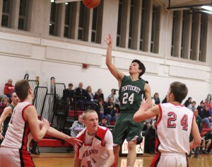 Nate McGrail lifts a floater