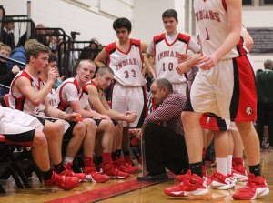 Amesbury timeout with Coach Tom Comeau