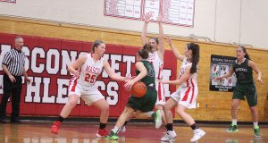 Pentucket had 32 turnovers including this one.