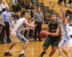 Mike McCauley eyes the basket