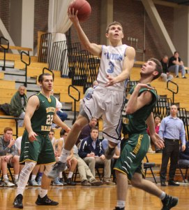 Erick Rybicki floats to the hoop