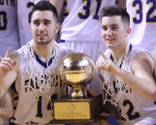 Coyne brothers with the Gold Ball