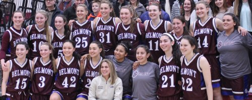 The Belmont Marauders gather for a picture after their win over Newburyport