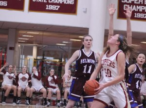 Emily Pettigrew spins in for her 1000th point