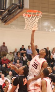 Jhonel Roberts skies for a rebound