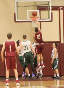 Casey McLaren at the rim
