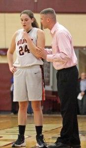 Mya Blazejowski and Coach Steve Sullivan