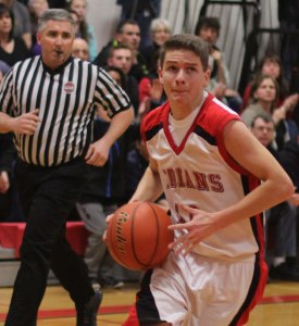 Riley O'Connor eyes the hoop