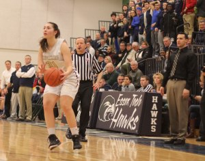 Sydney Brennan (17 points) hit four 3's for the second straight tournament game