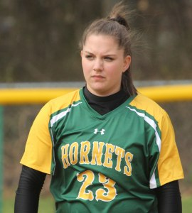 Cassandra Pascucci was one of four Hornets with two hits