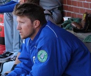Kyle Freeland between innings