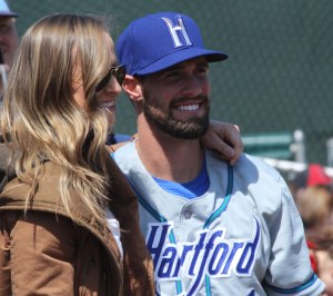 Jacquelyn Davis with David Dahl before the game
