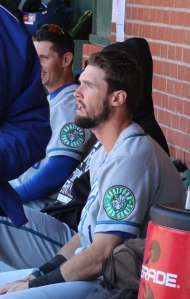 David Dahl in Hartford dugout