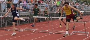 Alec Reduker (Newburyport), Brandon Amello (Triton) - 110 meter hurdles