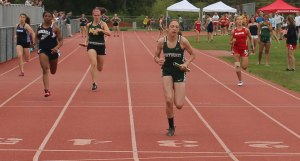 Katryn Dwyer (Pentucket), Daniela Garcia (Hamilton-Wenham), Jenna Raffael (North Reading) - 4X100 relay