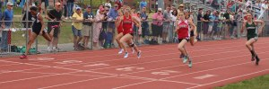 Daniela Garcia (Hamilton-Wenham), Brooke Taylor (Amesbury), Caroline Schissel (Amesbury) - 100 meters