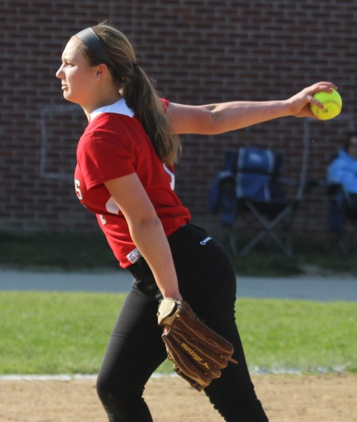 Hayley Catania struck out nine Clippers and allowed only one hit
